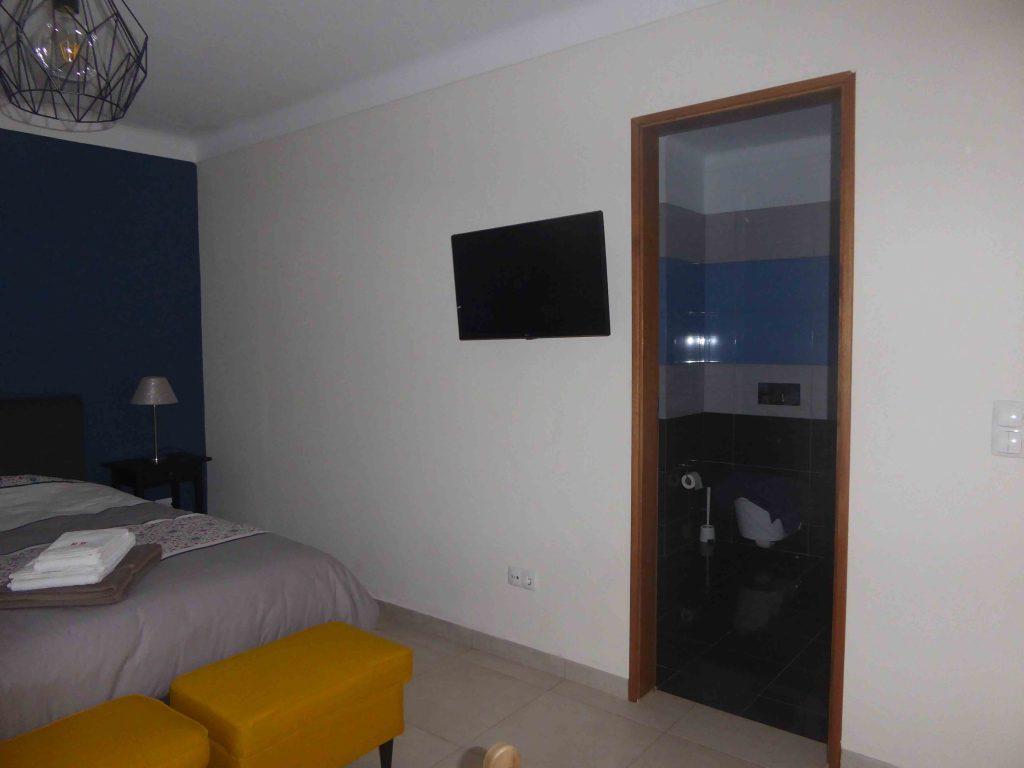 Chambre bleu avec salle de bain Casa Katz